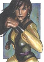 Silk Spectre - Sketch Card by J-Redd