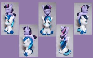 Shining Armor and Twilight Sculpt by CadmiumCrab