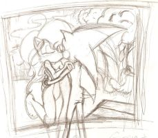 Sonic and Sally by megs83
