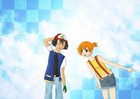 Ash and Misty by MitsukuniAnise