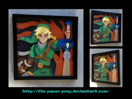 Commission: Link Shadowbox by The-Paper-Pony
