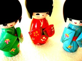 kokeshi dolls by betiina