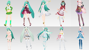 Project Diva Costume Background by MootyWaffles