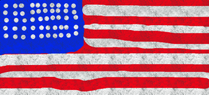 My Atempt of a American flag by ponyblu123