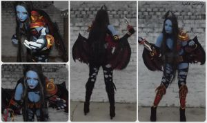 Completed Queen Of Pain Cosplay by AnneTSeptik