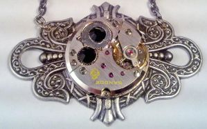 Filigree Steampunk Necklace by SteamDesigns