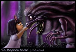 THE LITTLE GIRL AND THE BEAST by CarlosHurtadoSoriano