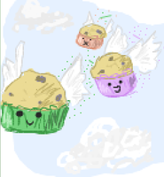 Flying Cupcakes by xBlueFootx