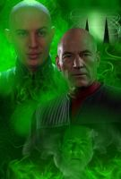 Picard And Shinzon by LordRadim