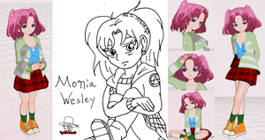 My 3DCG: Monia Wesley by RedFalcon23