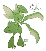 123 - Scyther by oddsocket