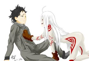 Shiro and Ganta by Nyasee