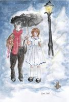 Tumnus and Lucy by calondara