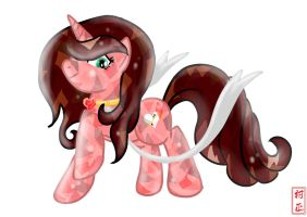 Commision: Heart Link Crystal Pony by Muramasa91