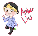 Amber Liu Chibi [Speed Paint] by JayJayTheJina