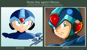 Mega Man X - Before and After by Locke3K