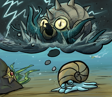 Pokestream- Omastar by pettyartist