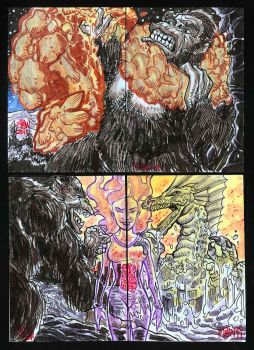 Creature Double Feature Puzzle Cards 3 by fbwash