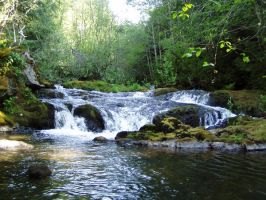 Small Waterfall Stock by Stoked-Stock