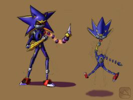 Pseudo Metal Sonic concept by Torcher999