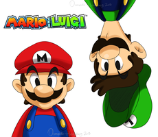 Mario And Luigi by Domestic-hedgehog