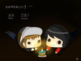 Happy birthday Minho and Onew! by Camilapiplup