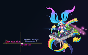 Arcade Sona Wallpaper by takkun363