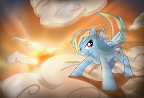 A dash of sunset by Tailzkip