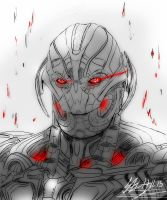 Sketch Study: Ultron by narutogirlfan