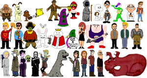 Adventure Game Characters by JenniBee