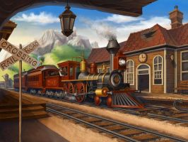 Train Station by maria-istrate