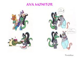 Ava Colored Sketches by Creative-Dreamr