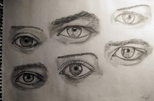 I'm learning to draw eyes by punkrussian