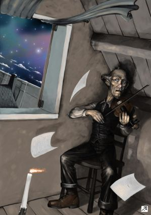 Violin Player by BAproductions