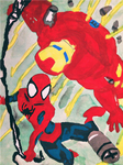 Spider-Man And Iron Man by invencibleJP