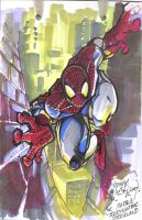 spiderman sketch by weshoyot