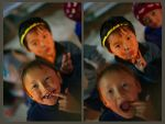 Kids at Chungthang by varunabhiram