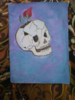 Skull and Rose by ASanti777