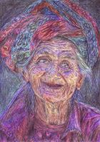 Happy old woman by Witlart