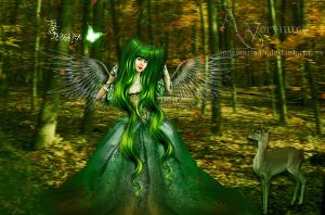 The Green Princess Angel by annemaria48