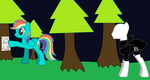 Rainbow Dash Plays Slender Colt by dhonde