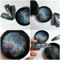 universe case + hair clips BMTH by PixieBMTH