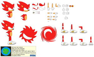 Character Builder-Fire Sonic by Kphoria
