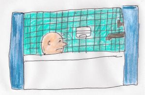 Charlie Brown takes a bath by dth1971