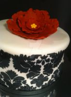 Damask and Flower Cake by Corpse-Queen