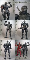 Custom Snake Eyes figure 6 in by KyleRobinsonCustoms