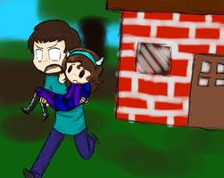 Herobrine Kidnapped Cammy by Blueshadow54