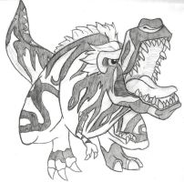 Fossil Fighters T-rex by WingedKobraTheThird