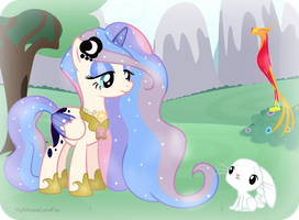 The Princess and her Pets by NightmareLunaFan