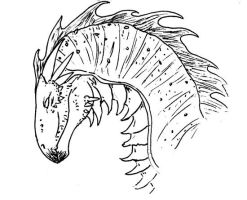 ink dragon by teh-dino